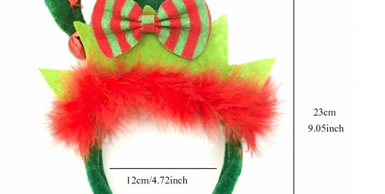 Christmas Elf Headbands with Feather Trim