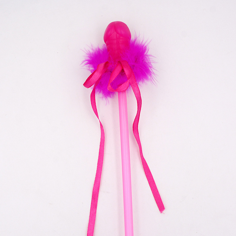 Hen Party Naughty Supplies Pink Feather Magic Wand at www.legopartycraft.com