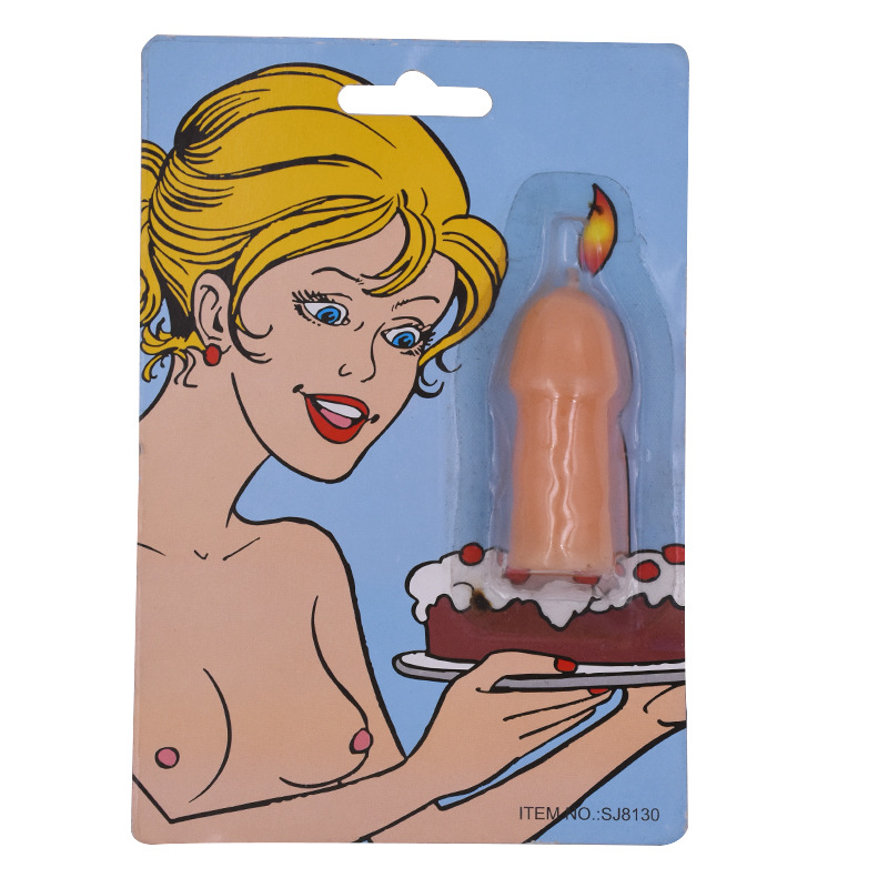 Hen Party Supplies Willy Penis Candle On Cake