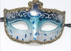Blue Gold Glitter Eye Masks Wholesale Party Mask