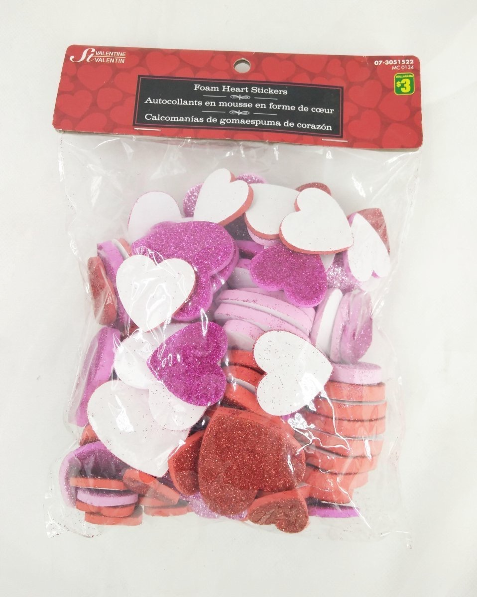 Dollarma Valentine Foam Heart Stickers Wedding Supplies Party Gifts