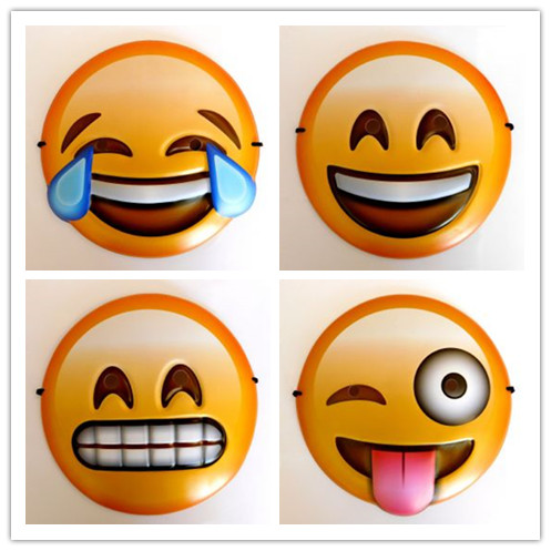Emoji Masks Party Assorted 4 Styles Novelty Masks
