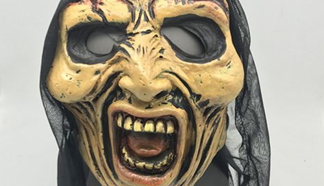 Old Men Witch Mask Screaming Halloween Head Mask