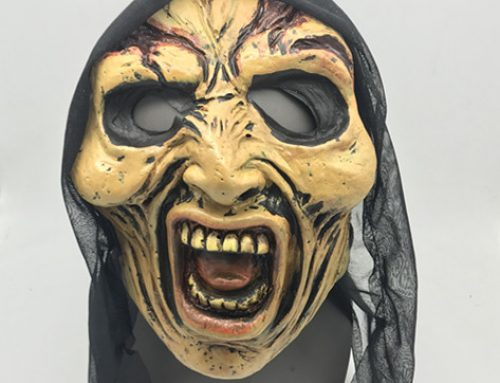 Creepy Halloween Old Men Mask Latex W Hood Halloween Scary Head Mask