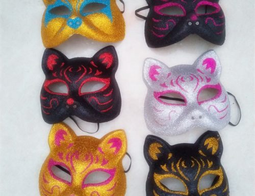 Unisex Assorted Color Fancy Glitter Cat Eye Mask For Adult