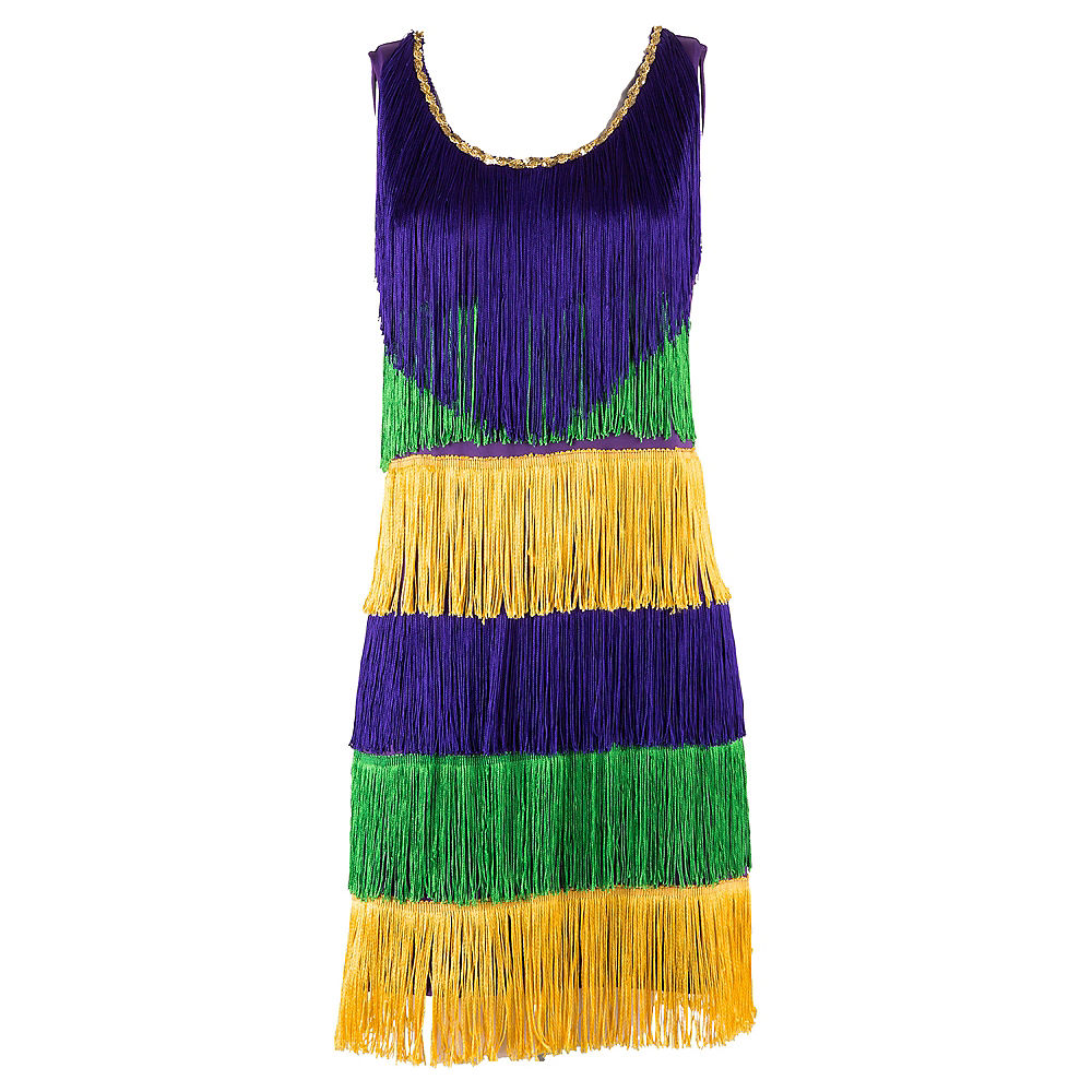 Mardi Gras Tassel Dress