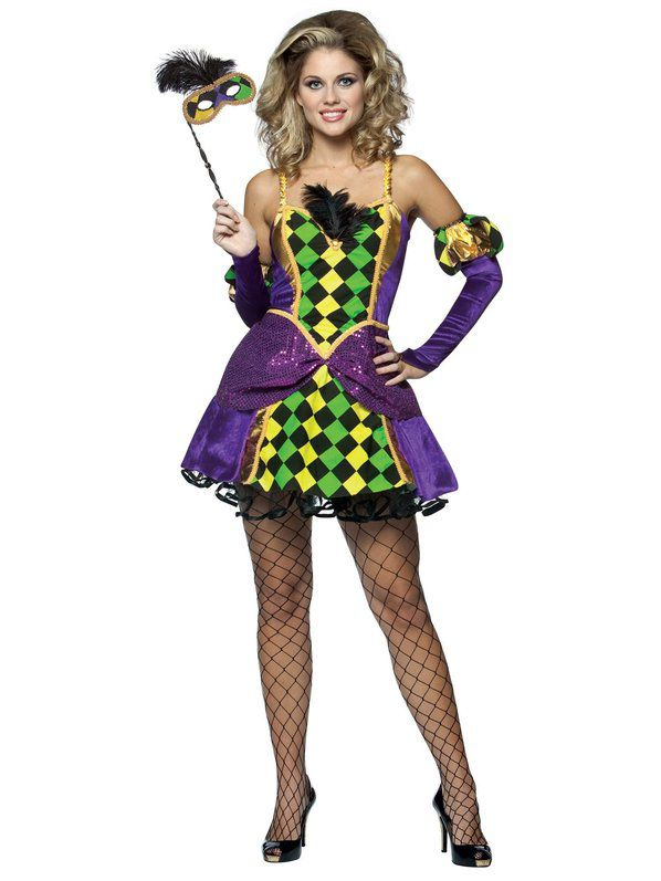 Mardi Gras Queen Sexy Adult Costume