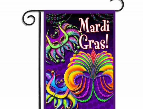 Mardi Gras Double Sided House Flag Garden Flag
