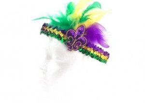 Mardi Gras PGG Feather Flappy Headband