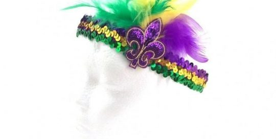 Mardi Gras PGG Feather Flappy Headband