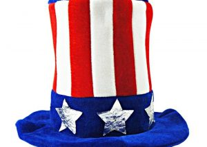 Patriotic Top Hat Felt Hats For Adult