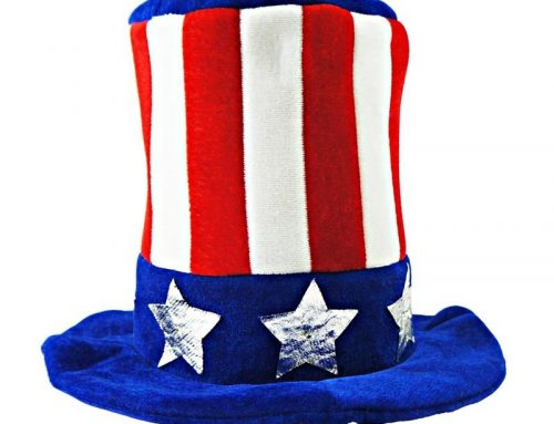 Party City Patriotic Top Hat Felt Hats For Adult Fourth Of July Headwear