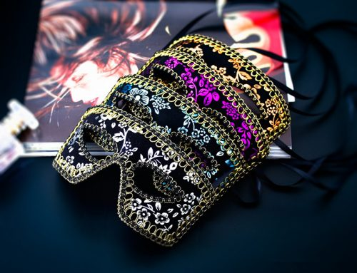 Assorted Color Men's Masquerade Masks Flower Printed Style