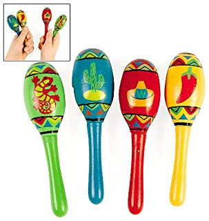 Fiesta Maxican Maracas Plastic Playset Assorted Color