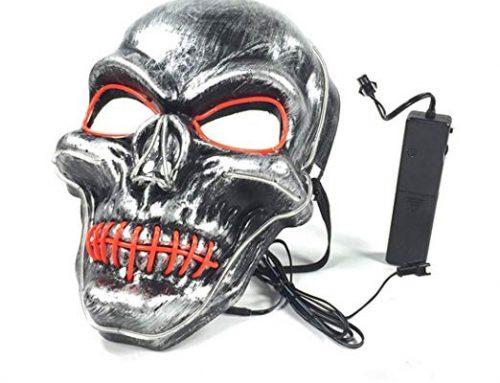 Costume Cosplay LED Glow Scary Light Up Masks