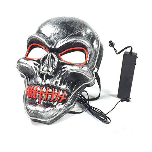 Halloween Scary Light Up Masks LED Skull Mask