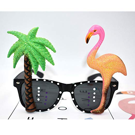 Flamingo Sunglasses and Palm Tree Fun Glasses