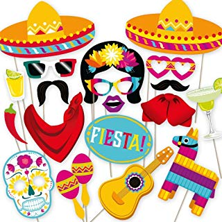Fiesta Photo Booth Props by PartyGraphix. Perfect for Mexican Photo Booth Props Stand.