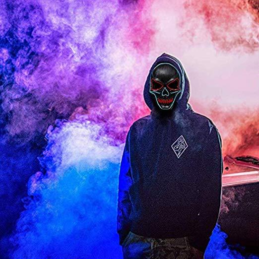 LED Glowing Scary Costume Mask