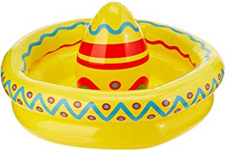 Inflatable Sombrero Cooler Party Accessory 18-Inch by 12-Inch (1 count), Multicolor, One Size