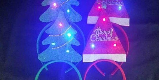 Light Up Christmas Headband Decoration Christmas Three and Hat