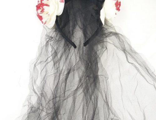 Halloween Black Veil Headband Artificial Flower Decoration Hair Accessories