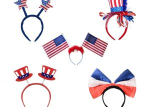 Patriotic headbands, Red White Bopper