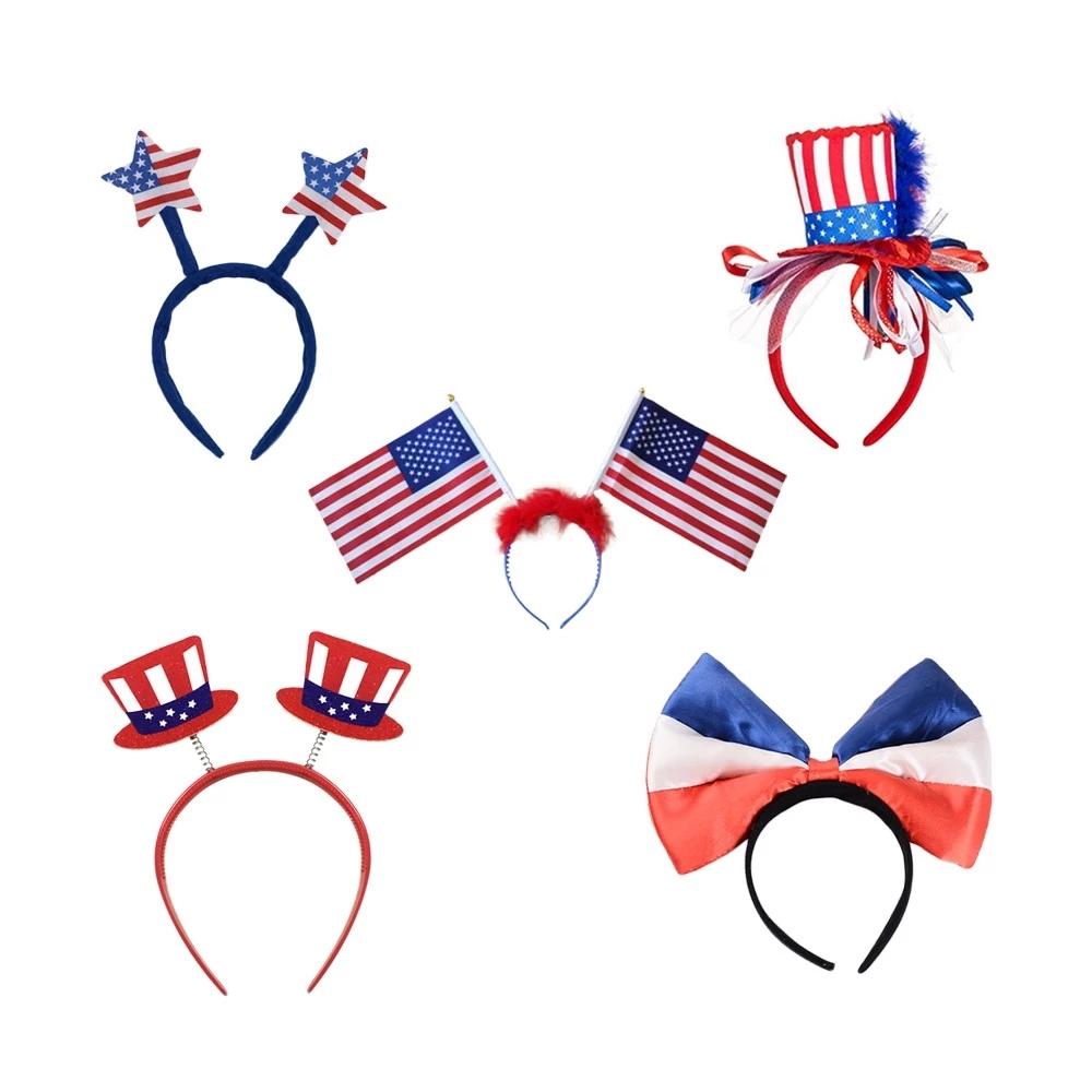 Patriotic headbands, Red White Bopper