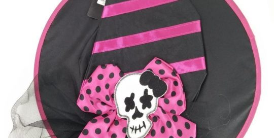 Halloween Skeleton Witch Hat Women's Novelty Accessories