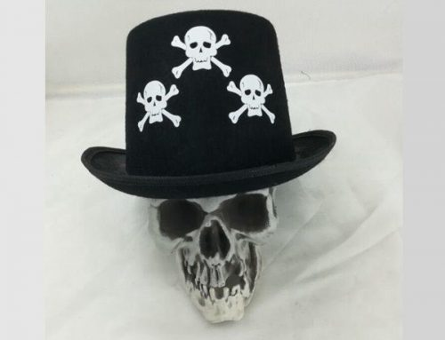 Halloween Men's Skeleton Top Hat Dress Up Party Hat Novelties