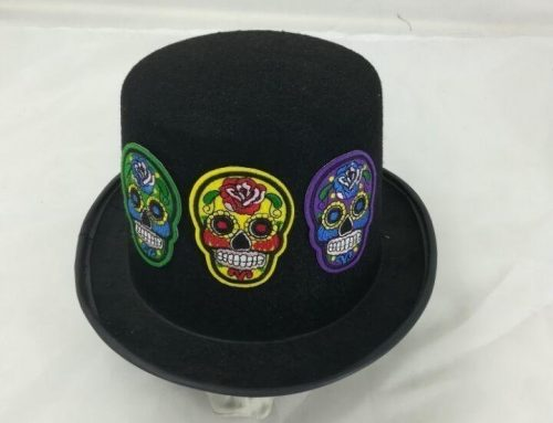 Adult Sugar Skeleton Top Hat Day of the Dead Fancy Dress Accessories