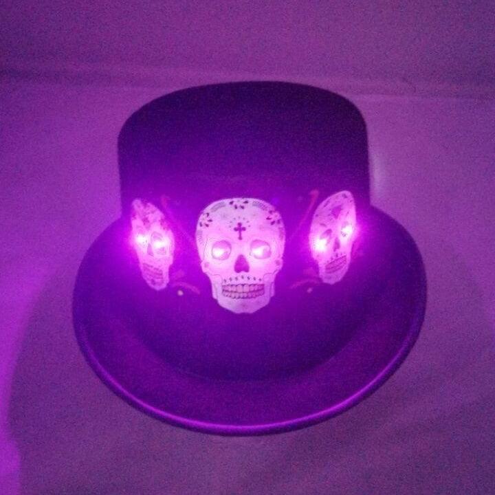Led Light Skull Skeleton Hat Cosplay Crops Cap