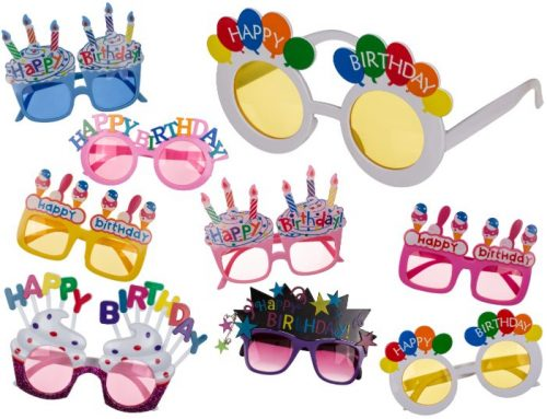 Happy Birthday Eyeglasses Plastic Fun Glasses Party Gift