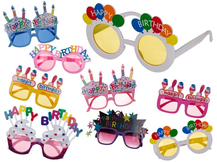 03987831559ca Happy Birthday Eyeglasses Plastic Fun Glasses Party Gift
