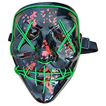 Halloween Mask Cosplay LED Light up Purge Mask Festival Party