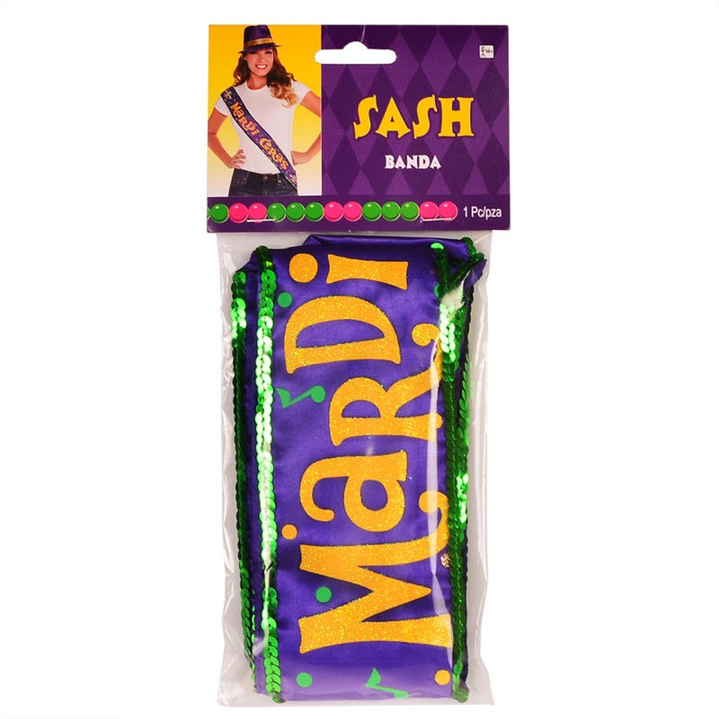 "ardi Gras 30"" Costume Party Sash Children Costume Accessories"