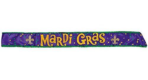 "Mardi Gras 30"" Costume Party Sash"