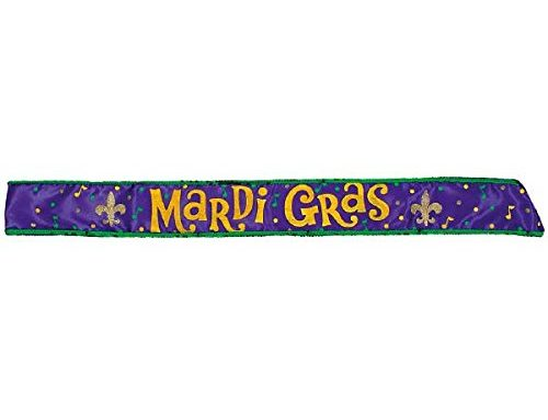 "Mardi Gras 30"" Costume Party Sash Children Costume Accessories For Amscan"
