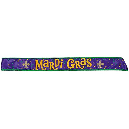 "Mardi Gras 30"" Costume Party Sash"