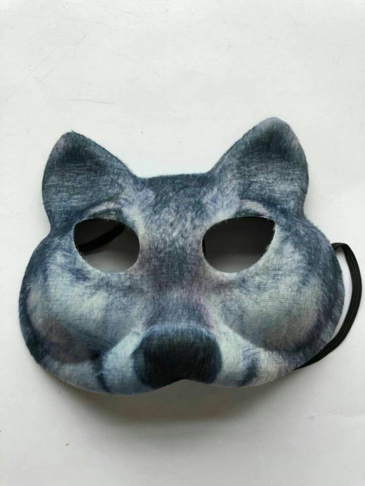3D Printed Wolf Mask Masquerade EVA Animal Mask For Carnival
