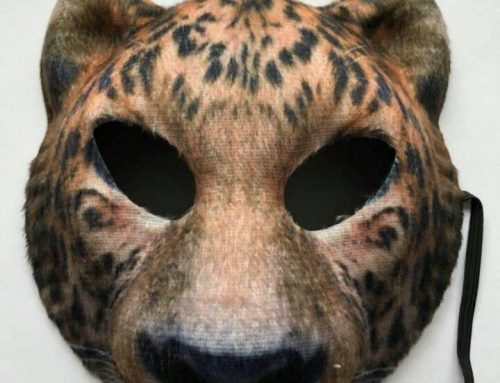 Animal Mask Halloween Tiger Wolf Lion Half Face Mask Party Supplies