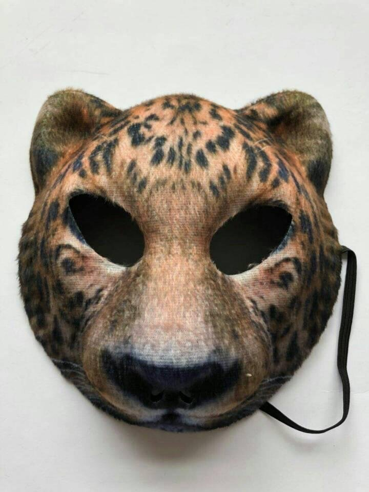 Tiger Half Face Mask for Party Halloween Cosplay Animal Mask