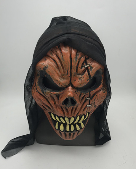 Scary Red Skeleton Mask Halloween Head Mask