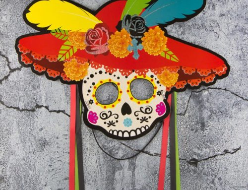 The Day of the Dead Sugar Skull Paper Mask Half Face Mask Party Decoration