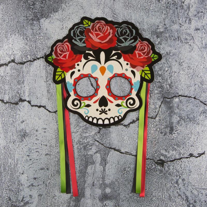 Adult Women's Half Face Mask Sugar Skeleton Mask Cosplay