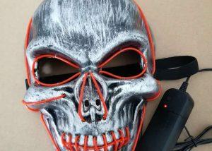 Halloween Scary Light Up Masks LED Skull Masks