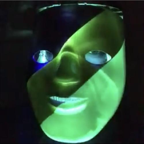 Mardi Gras LED Light Up Full Face Mask