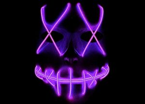 Freightening LED Light up Mask Halloween Mask Glow Rave Mask