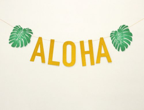 Hawaii Party Banner Aloha Letter Party Garland Sign Decorations