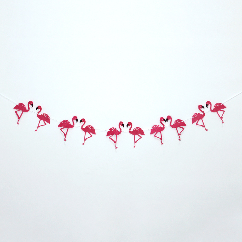 Flamingo Banner Garland For Hawaii Party Luaua Party